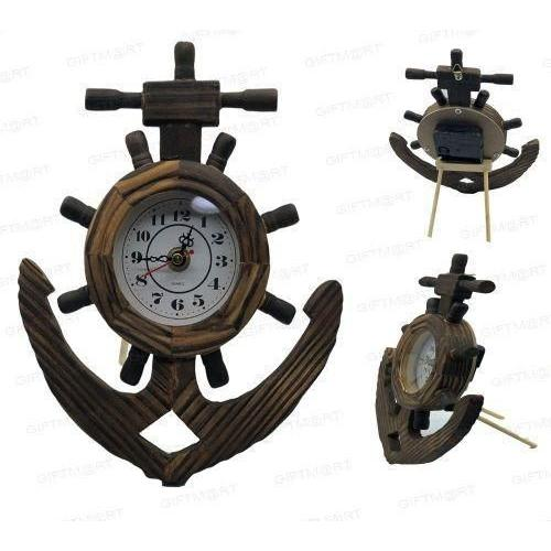 WOODEN ANCHOR CLOCK DC-004