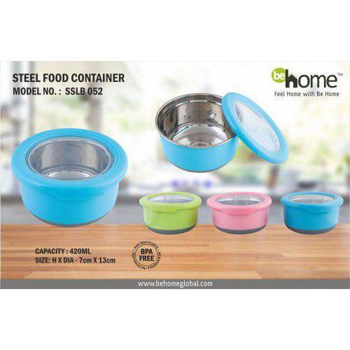 BeHome Steel Food Container SSLB - 052