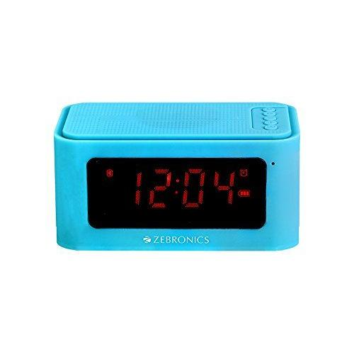 Zebronics ZEB-CLOSIC2 Portable Bluetooth Wireless Speaker with Alarm clock. (Blue)