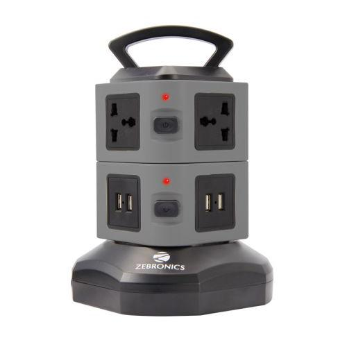 TS102 Power Extension Tower with 6 sockets 4 USB